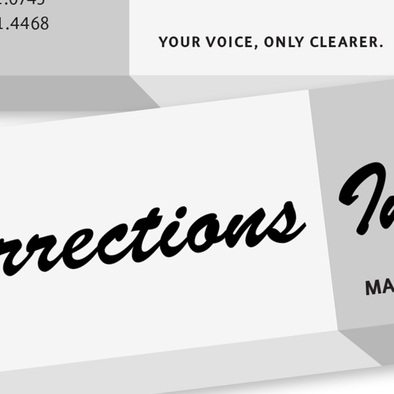 Corrections Ink